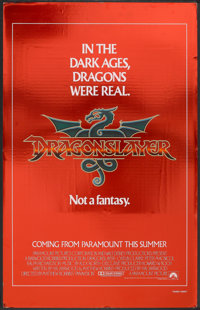"""Dragonslayer Lot (Paramount, 1981). Mylar One Sheet (26"""" X 41"""") Advance and Mini Poster (13.5"""" X 20.5&quo..."""