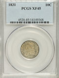 Bust Dimes: , 1831 10C XF45 PCGS. PCGS Population (14/216). NGC Census: (8/228).Mintage: 771,350. Numismedia Wsl. Price for NGC/PCGS coi...