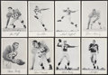 Football Cards:Sets, Very Scarce 1956 W806 and 1957 (Unc.) New York Giants Team IssueComplete Sets (2)....