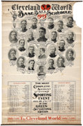 Baseball Collectibles:Others, 1905 Cleveland Naps Illustrated Baseball Schedule....