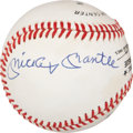 Autographs:Baseballs, Mickey Mantle and Stan Musial Dual-Signed Baseball. ...
