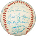 Autographs:Baseballs, 1973 Old Timers Team Signed Ball....