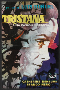 """Tristana (CCN, 1970). Argentinean Poster (12.5"""" X 19""""). Drama"""