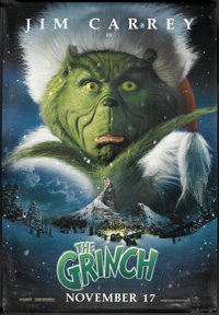 """How the Grinch Stole Christmas (Universal, 2000). Bus Shelter (48"""" X 70"""") DS Advance. Family"""
