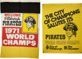 Baseball Collectibles:Others, 1971 & 1979 Pittsburgh Pirates World Championship CelebrationBanners....