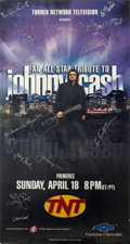 Music Memorabilia:Autographs and Signed Items, Johnny Cash and Others Signed All-Star Tribute Poster....