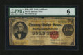 Large Size:Gold Certificates, Fr. 1215 $100 1922 Gold Certificate PMG Good 6....