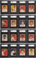 Baseball Cards:Sets, 1949 Bowman Baseball Complete Set (240) Plus Six Variations - With131 Graded Cards!...