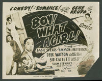 """Boy! What a Girl! Lot (Herald Pictures, 1947). Title Lobby Card and Lobby Cards (5) (11"""" X 14""""). Black Films..."""