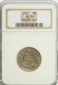 Seated Quarters: , 1877 25C AU50 NGC. NGC Census: (6/308). PCGS Population (4/312).Mintage: 10,911,710. Numismedia Wsl. Price for NGC/PCGS co...