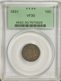 Bust Dimes: , 1831 10C VF30 PCGS. PCGS Population (8/244). NGC Census: (3/250).Mintage: 771,350. Numismedia Wsl. Price for NGC/PCGS coin...