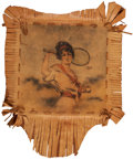 Miscellaneous Collectibles:General, Circa 1910 Female Tennis Player Leather Tobacco Premium....