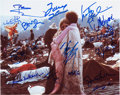 Music Memorabilia:Autographs and Signed Items, Woodstock Musicians Signed Photo....