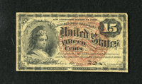 Fr. 1267 15c Fourth Issue Very Good. This is a well circulated note with healthy edges