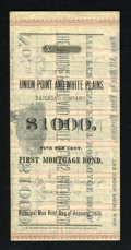 Miscellaneous:Other, Augusta, Georgia- Union Point and White Plains Railroad Co. - 5%First Mortgage $1000 Bond 1889.. This bond is not listed in...