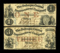 Obsoletes By State:Iowa, Dubuque, IA- Dubuque Central Improvement Company $1; $3 Feb. 27, 1858 Oakes 48-1; 2. ... (Total: 2 notes)
