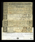 Obsoletes By State:Iowa, Dubuque, IA- Dubuque Western Rail Road Company $10; $1; $3; $5; $101857-58 Oakes 53-UNL; 3-6. ... (Total: 5 notes)