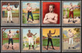 Boxing Cards:General, 1910 T220 Mecca Boxers Silver Borders Partial Set (16/26). ...