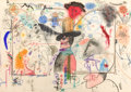 Fine Art - Work on Paper:Drawing, ROY DEAN DE FOREST (American, 1930-2007). The Cowboy Live,1981. Mixed media on paper. 29-3/4 x 41-3/4 inches (75.6 x 10...