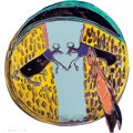 Fine Art - Work on Paper:Print, ANDY WARHOL (American, 1928-1987). Plains Indian Shield from the Cowboys and Indians Portfolio, 1986. Screenprint in col...