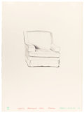 Fine Art - Work on Paper:Print, DAVID HOCKNEY (British, b. 1937). Slightly Damaged Chair,Malibu, 1973. Lithograph on Arches paper. 30 x 22 inches(76.2...
