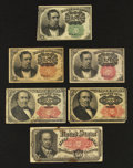 Fractional Currency:Fifth Issue, Fifth Issue Complete Variety Set. Fine or better.... (Total: 6notes)