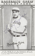 "Autographs:Sports Cards, Circa 1948 Napoleon ""Larry"" Lajoie Signed Trading Card...."
