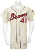 Baseball Collectibles:Uniforms, 1964 Eddie Mathews Game Worn Jersey....