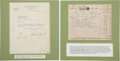 Golf Collectibles:Autographs, 1955 Bobby Jones Signed Letter with Accompanying Book Invoice....