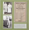 Golf Collectibles:Autographs, 1934 St. Paul Open Program Signed by Horton Smith, Walter Hagen....