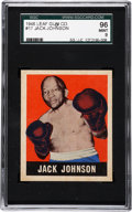 Boxing Cards:General, 1948 Leaf Jack Johnson #17 SGC 96 Mint 9....
