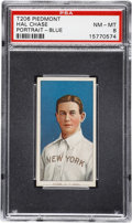 Baseball Cards:Singles (Pre-1930), 1909-11 T206 Hal Chase Portrait-Blue Background PSA NM-MT 8 - Pop 1of 1 With None Higher....