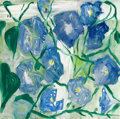 Fine Art - Painting, American:Modern  (1900 1949)  , JENNIFER LOSCH BARTLETT (American, b. 1941). Morning Glories(from The Creek Series), 1984. Oil on canvas. 19-1/2 x 19-1...