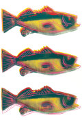 Fine Art - Work on Paper:Print, ANDY WARHOL (American, 1928-1987). Triple Fish. Screenprint in colors on paper. 24 x 42-1/4 inches (61.0 x 107.3 cm). St...
