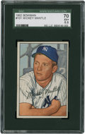 Baseball Cards:Singles (1950-1959), 1952 Bowman Mickey Mantle #101 SGC 70 EX+ 5.5....