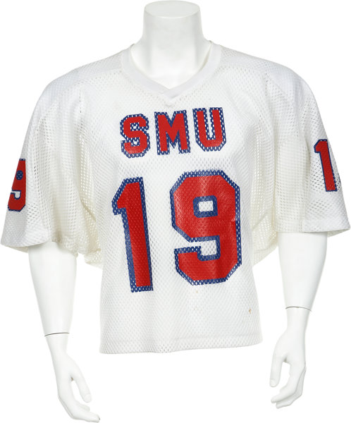 new concept efdf5 ca70a Circa 1982 Eric Dickerson Game Worn SMU Jersey.... Football ...