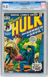 The Incredible Hulk #182 (Marvel, 1974) CGC VF/NM 9.0 White pages