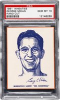 Basketball Cards:Singles (Pre-1970), 1951 Wheaties George Mikan Hand Cut PSA Gem Mint 10....
