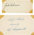 Autographs:Others, Circa 1950 Jackie Robinson & Roy Campanella Signed Autographs....