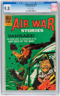 Air War Stories #6 File Copy (Dell, 1966) CGC NM/MT 9.8 Off-white pages