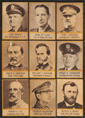 Non-Sport Cards:Sets, Circa 1950 Uncatalogued Military Generals Collection (20Different)....