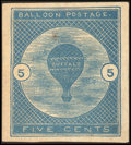 Stamps, 5¢ Deep Blue (CL1 var.),...