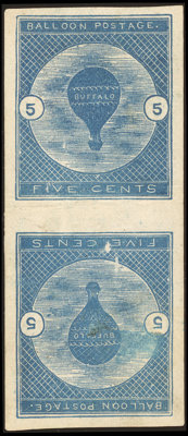 5¢ Deep Blue, Tête-Bêche Pair (CL1a)