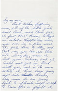 Boxing Collectibles:Autographs, October 18, 1961 Cassius Clay Handwritten Letter....