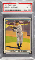 Baseball Cards:Singles (1940-1949), 1941 Play Ball Charley Gehringer #19 PSA NM 7....