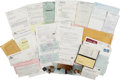 Football Collectibles:Others, 1976-77 Joe Montana Document Lot with Signed Check, Pet Permit....