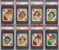 Baseball Cards:Sets, 1951 Topps Blue Backs High Grade Complete Set (52) Plus Wrapper....