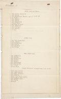 Autographs:Others, 1893 Albert Spalding Signed Inventory of Household Contents....