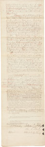 Autographs:Others, 1893 Albert Spalding Signed Property Agreement....