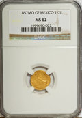 Mexico, Mexico: Republic gold 1/2 Escudo 1857 Mo-GF,...